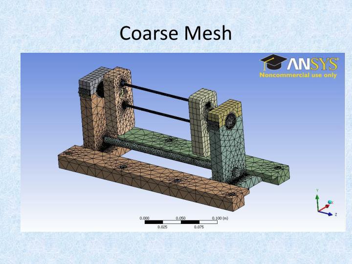 Coarse Mesh