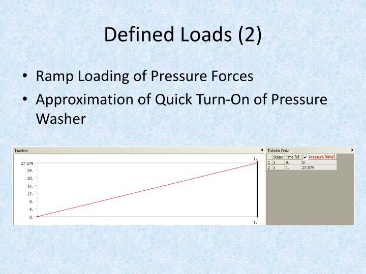 Defined Loads (2)
