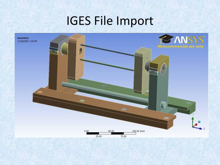 IGES File Import