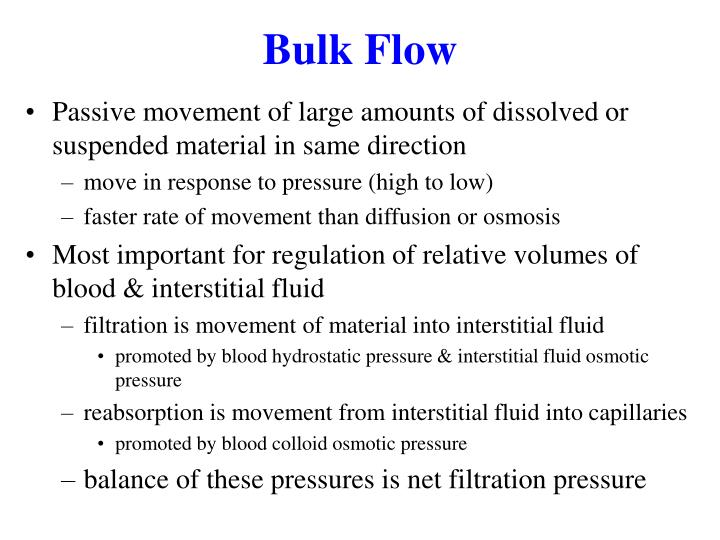 Bulk Flow