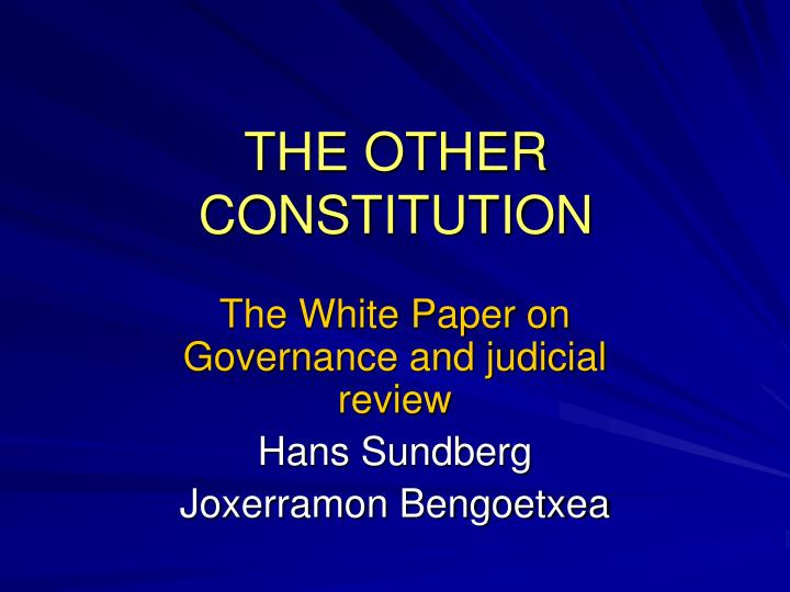 the other constitution n.
