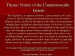 theme nature of the commonwealth1