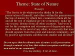 theme state of nature