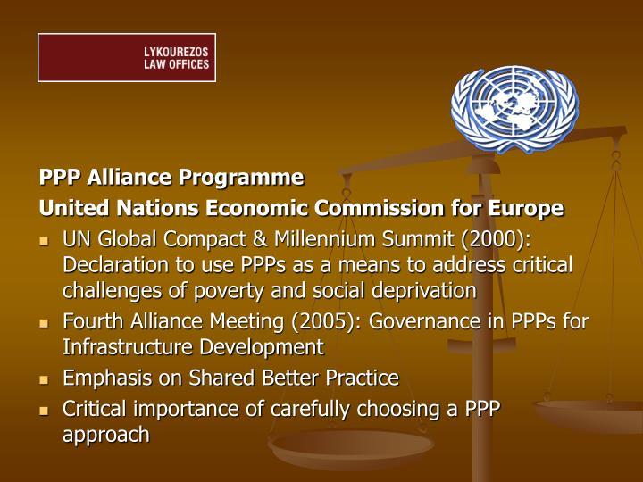 PPP Alliance Programme