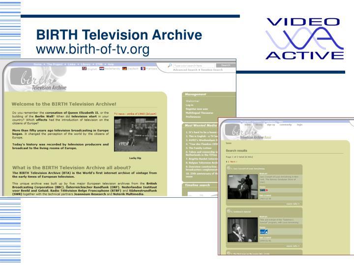 BIRTH Television Archive