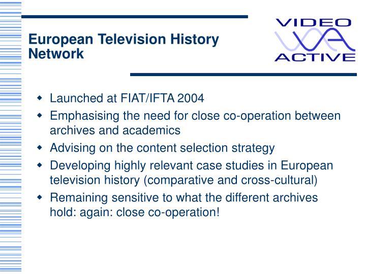 European Television History Network