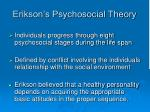 erikson s psychosocial theory