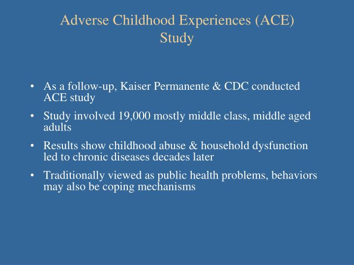 Adverse Childhood Experiences (ACE)