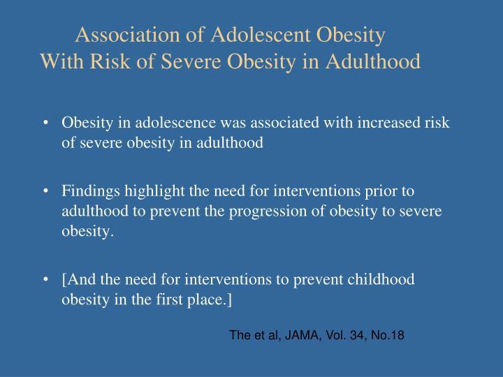 Association of Adolescent Obesity