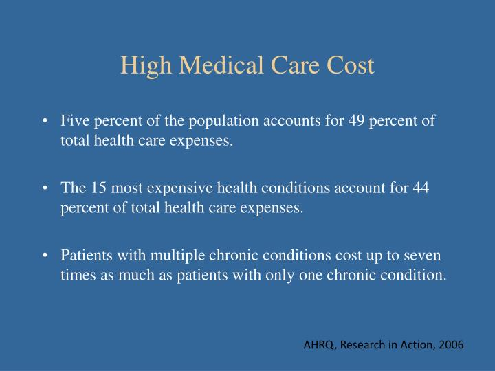 High Medical Care Cost