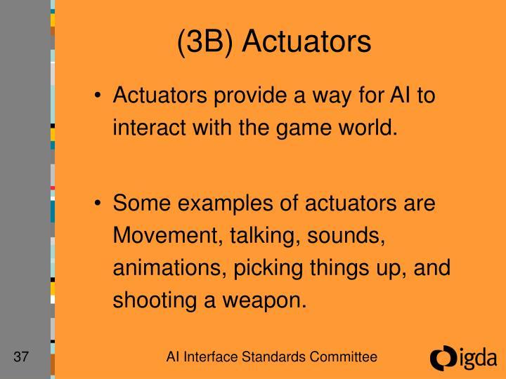 (3B) Actuators