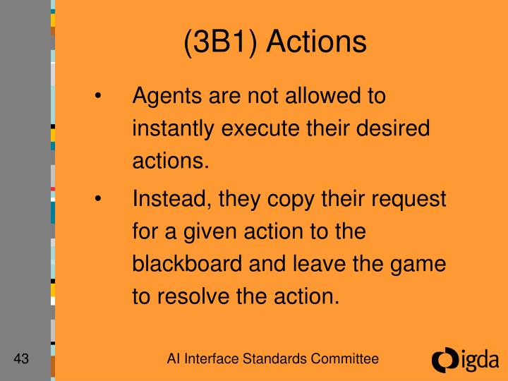 (3B1) Actions