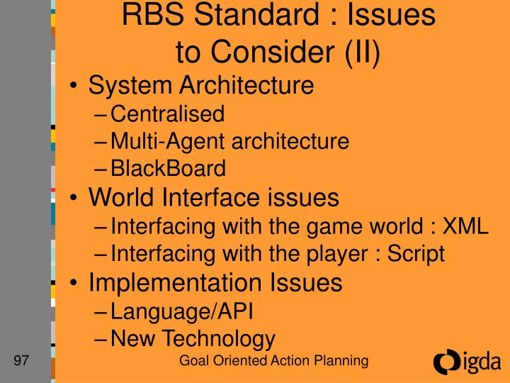 RBS Standard : Issues to Consider (II)