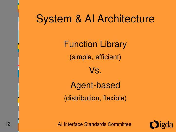 System & AI Architecture
