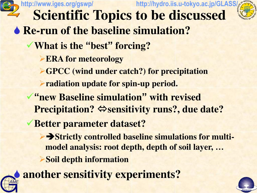 PPT - Scientific Topics to be discussed PowerPoint