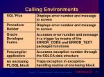 calling environments
