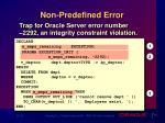 non predefined error