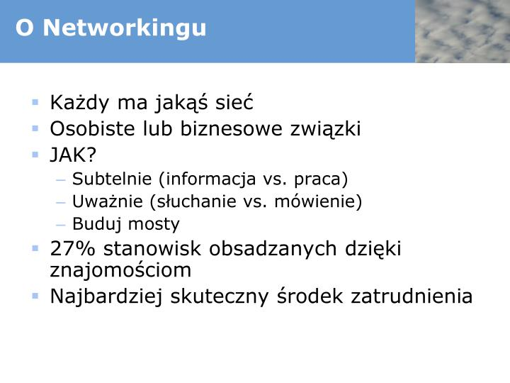 O Networkingu