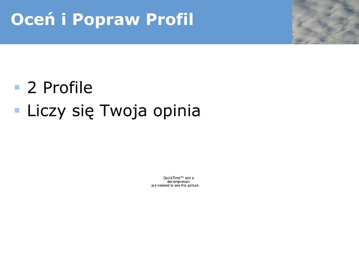 Oceń i Popraw Profil