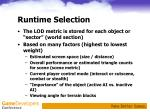 runtime selection1