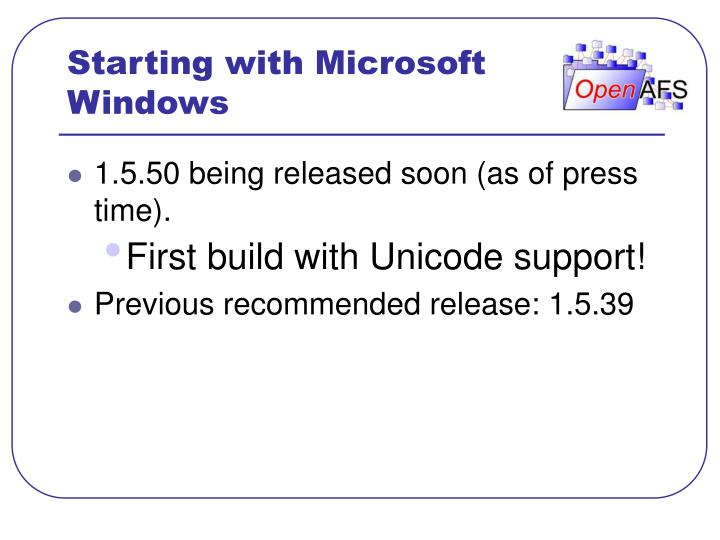 Starting with microsoft windows