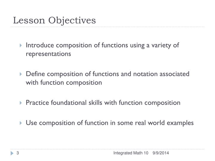Ppt Lesson 26 Composition Of Functions Powerpoint Presentation