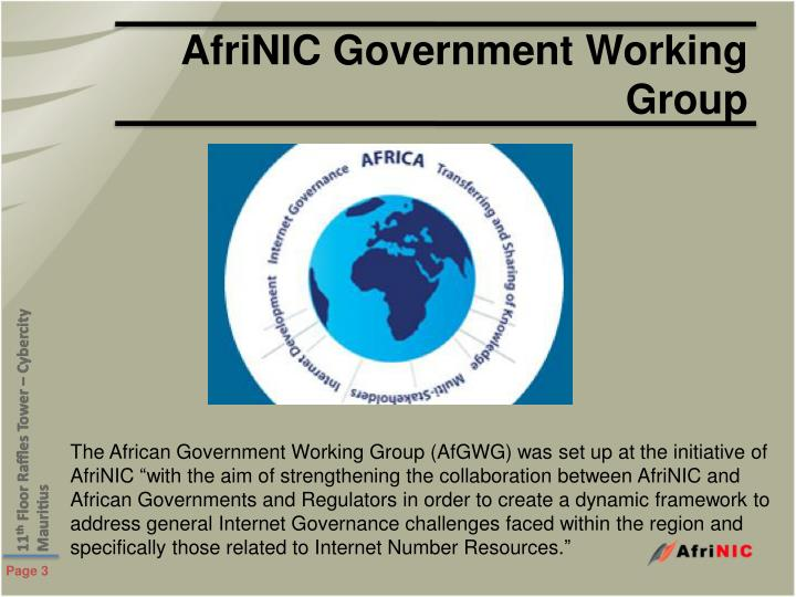 Afrinic government working group