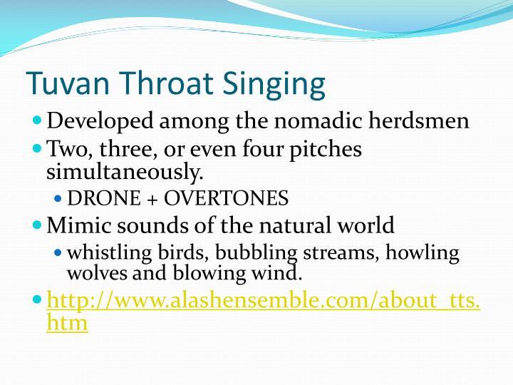 Tuvan Throat Singing
