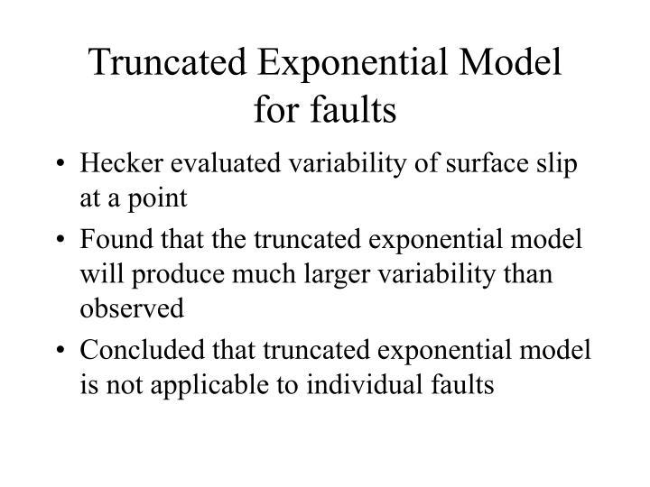 Truncated Exponential Model