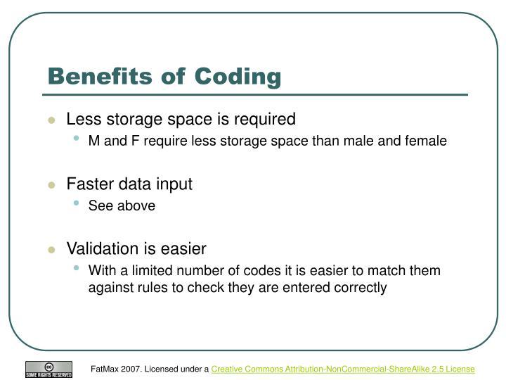 Benefits of Coding