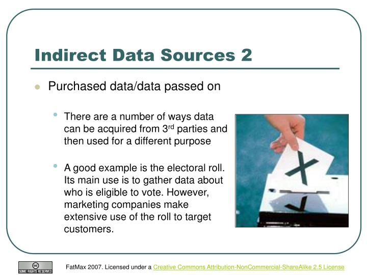 Indirect Data Sources 2