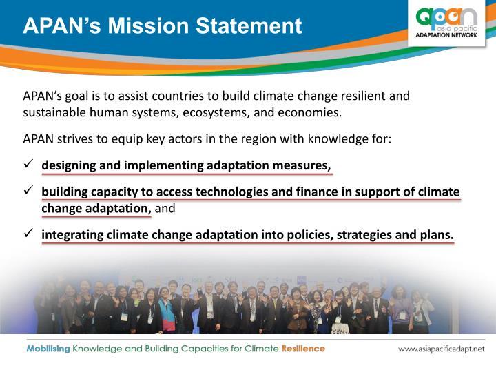 APAN's Mission Statement