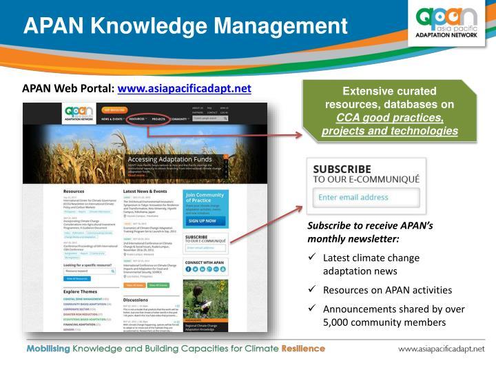 APAN Knowledge Management