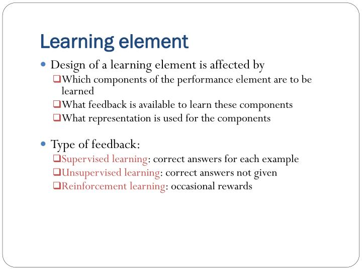 Learning element