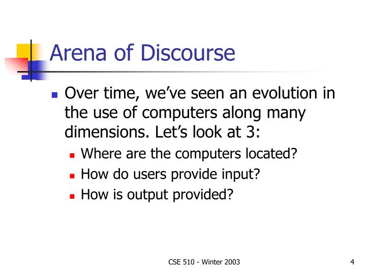 Arena of Discourse