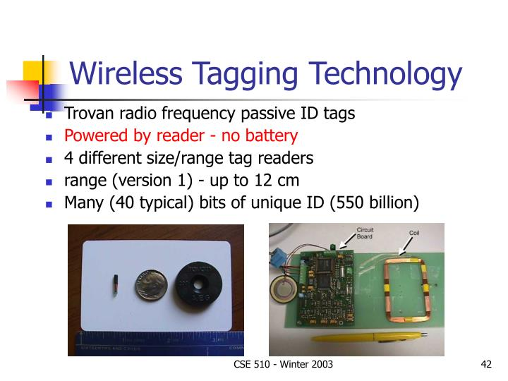 Wireless Tagging Technology