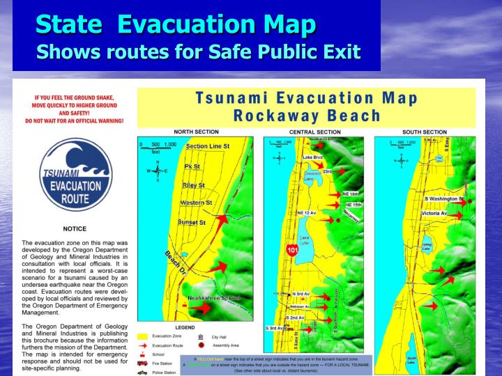 State  Evacuation Map