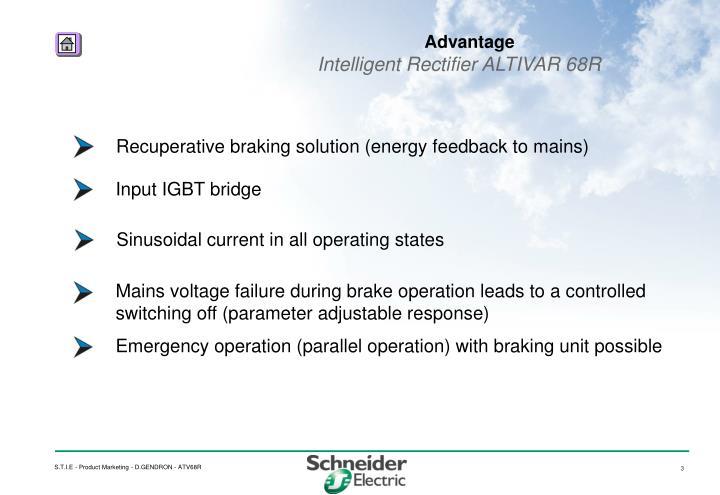 Advantage intelligent rectifier altivar 68r