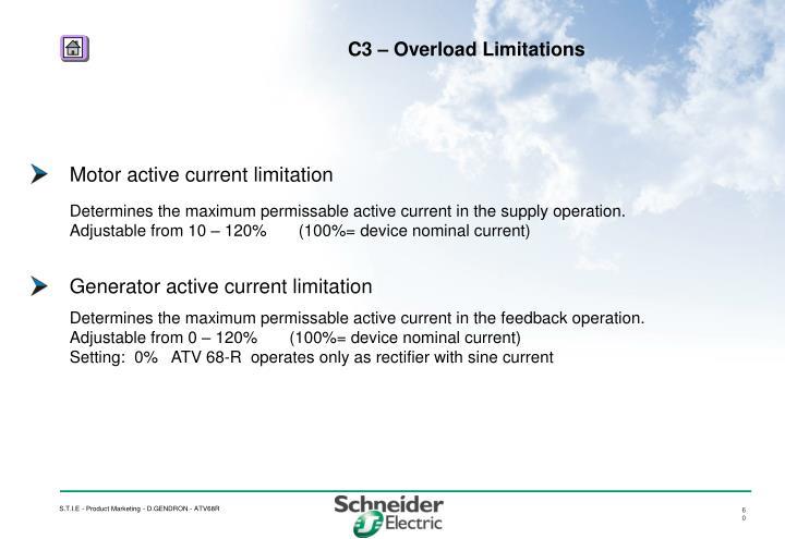 Motor active current limitation