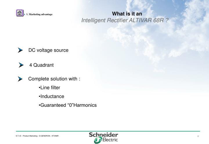 What is it an intelligent rectifier altivar 68r