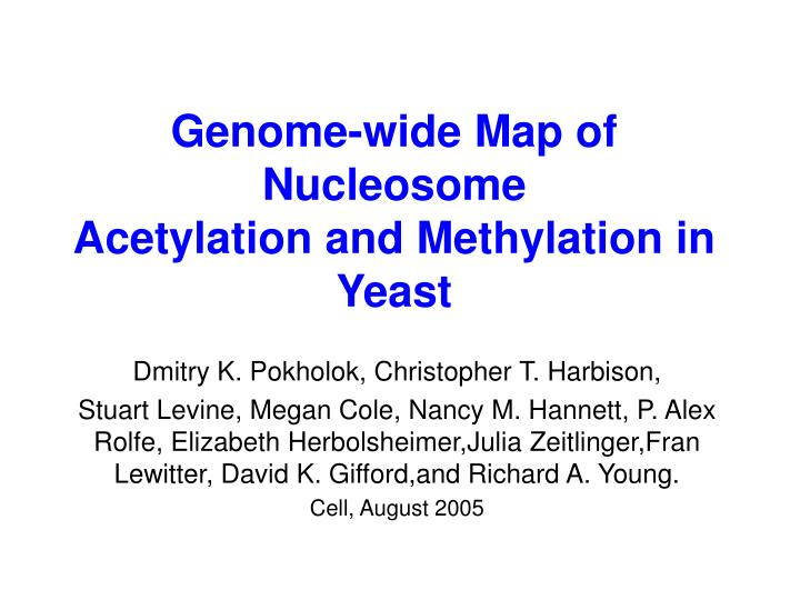Genome-wide Map of Nucleosome
