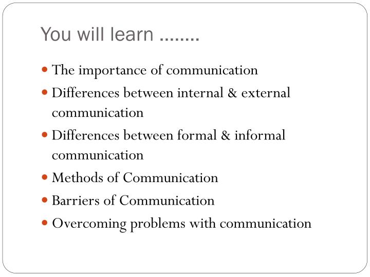 what is the difference between formal and informal business communication