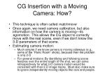 cg insertion with a moving camera how
