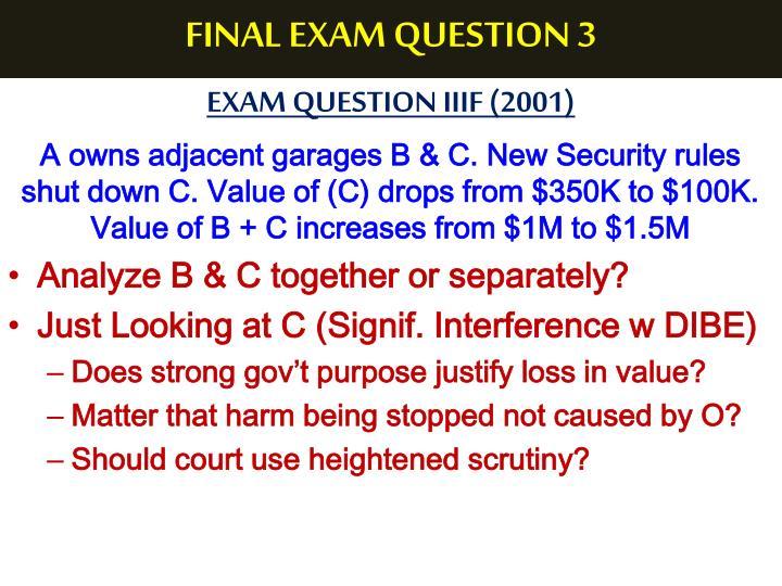FINAL EXAM QUESTION 3