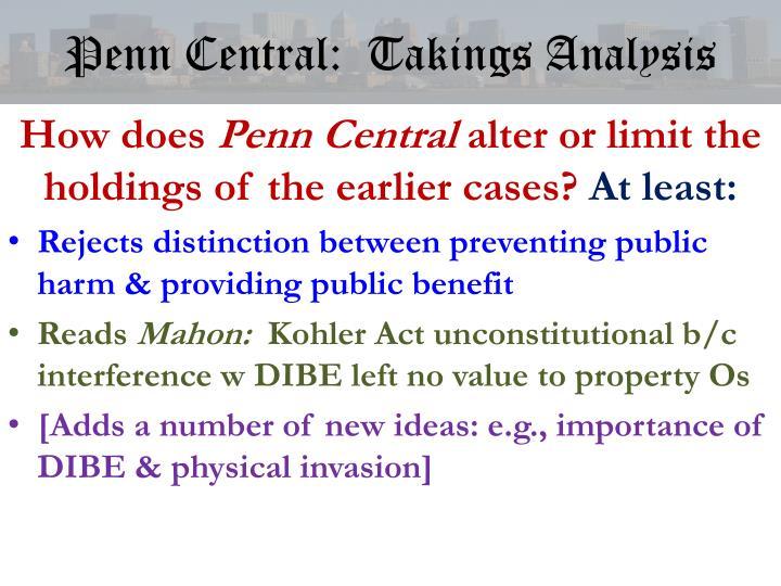 Penn Central:  Takings Analysis