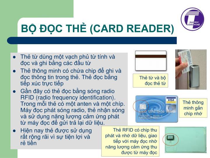 Thẻ từ và bộ đọc thẻ từ