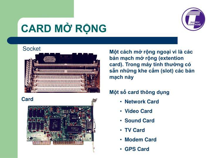 CARD MỞ RỘNG
