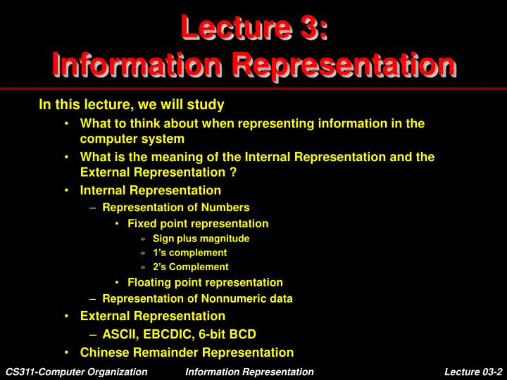 Lecture 3 information representation1