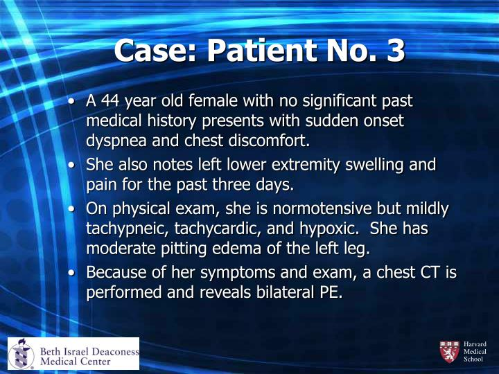 Case: Patient No. 3