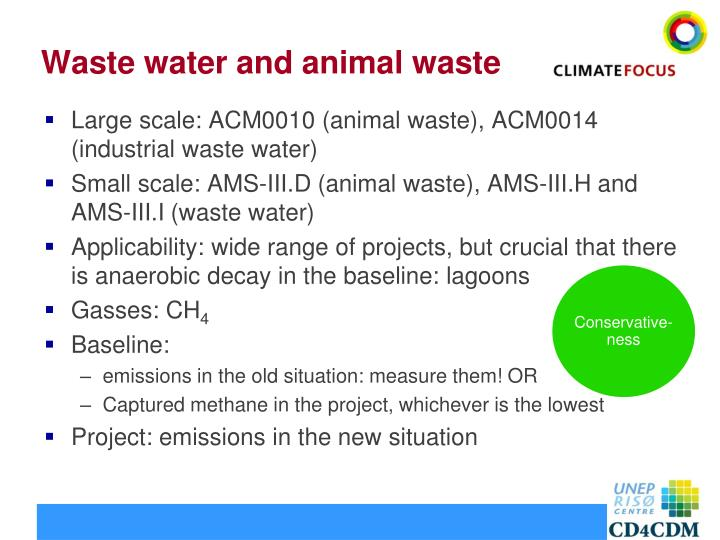 Waste water and animal waste